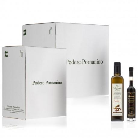 18 x Extra Virgin Olive Oil + 1 x Balsamic Vinegar